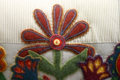 Embellished woollen applique